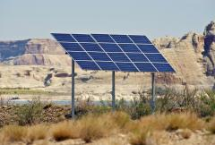 ground mounted solar in desert