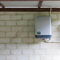 solar inverter in basement
