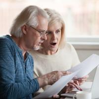 older couple surprised by energy bills