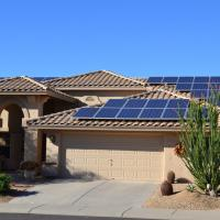 arizona home with solar panels