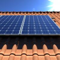 solar panels on orange roof