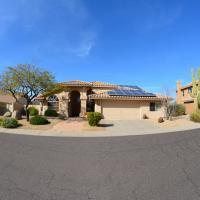 arizona home, solar panels on roof