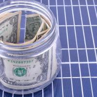 financing solar panels concept