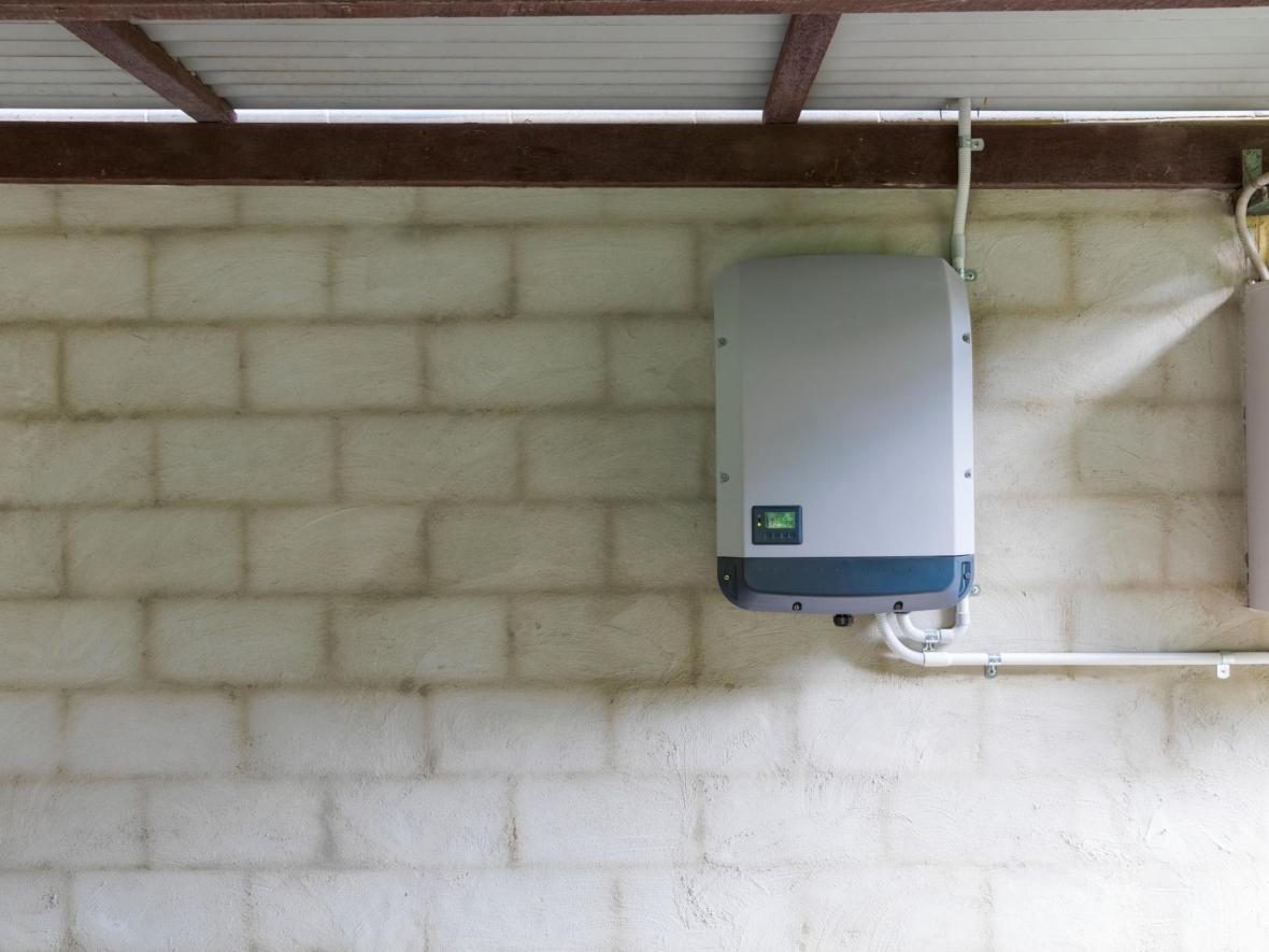 solar inverter in basement