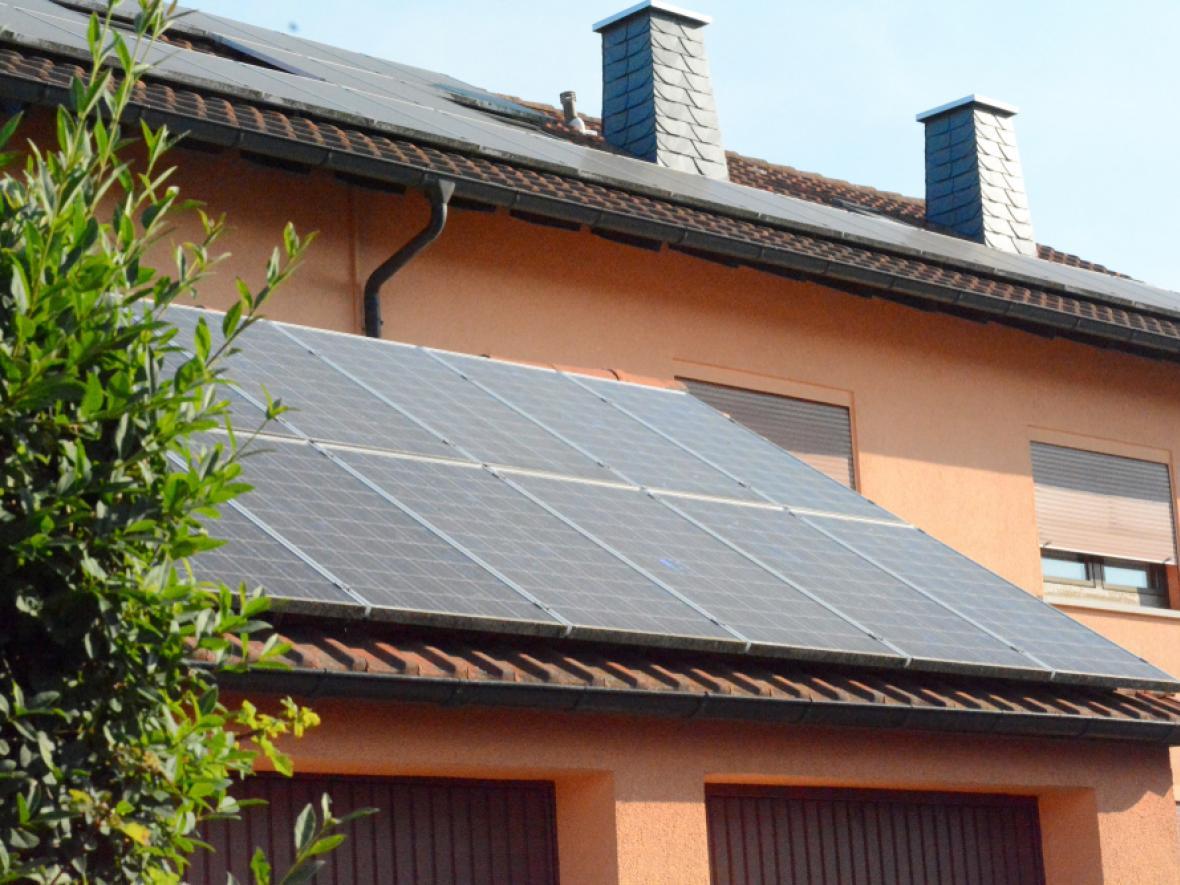 solar panels on southwestern home's roof
