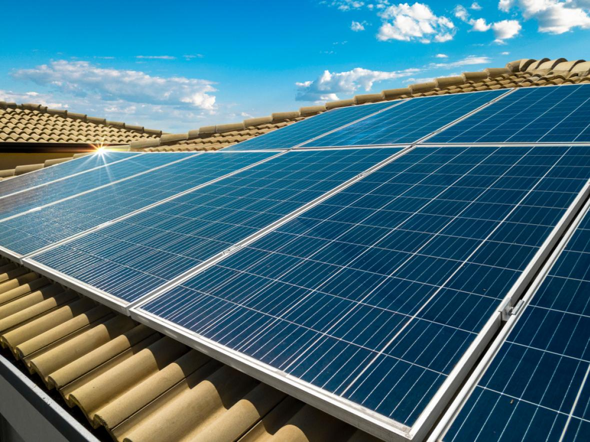 solar panels on the roof in Arizona