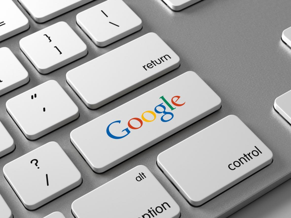 enter button with google logo