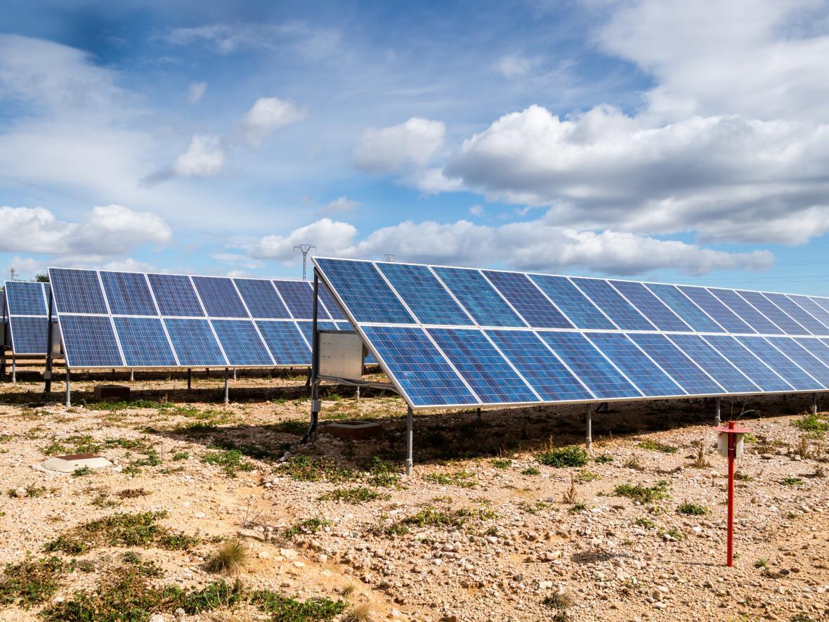 solar farm in desert