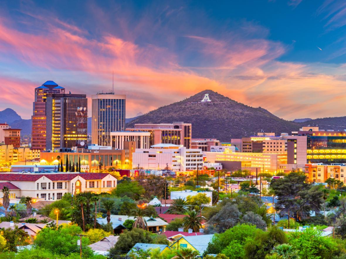 Tucson, AZ downtown skyline