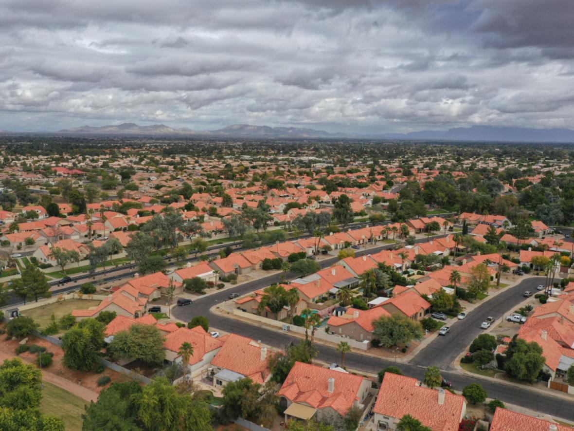Arial view of Gilbert, AZ