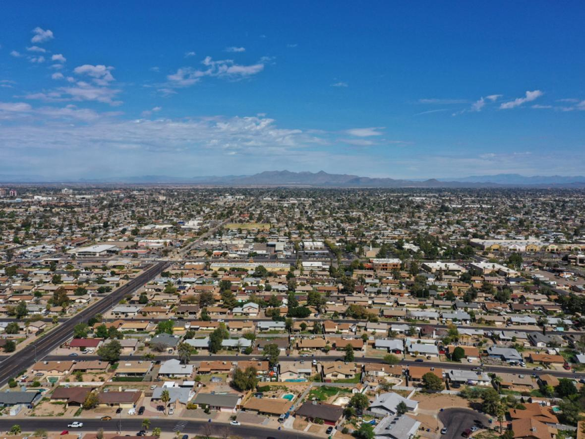 Aerial of Mesa, AZ