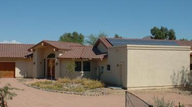 front angle of AZ home with solar