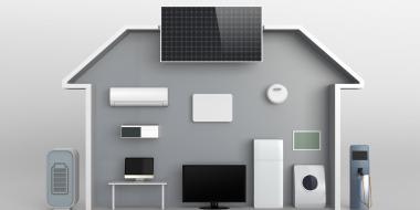 solar smart house illustration